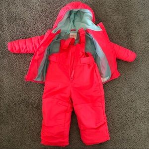 Cat & Jack Hot Pink Snowsuit. Jacket and Trousers.